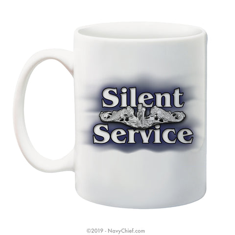 """Silent Service"" - 15 oz Coffee Mug - NavyChief.com - Navy Pride, Chief Pride."