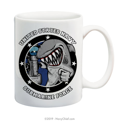 """Submarine Force"" - 15 oz Coffee Mug - NavyChief.com - Navy Pride, Chief Pride."