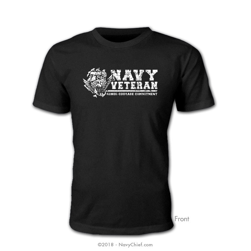 """Navy Veteran"" ACE T-shirt, Black - NavyChief.com - Navy Pride, Chief Pride."