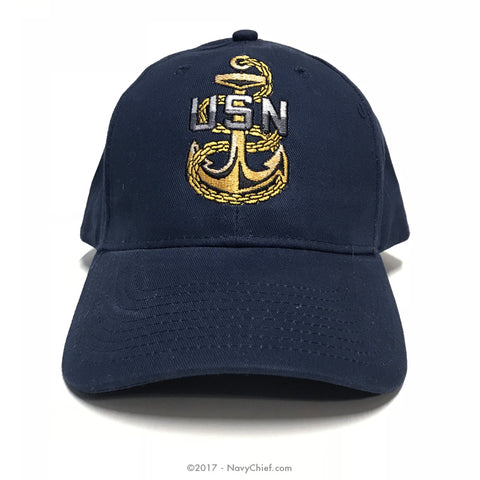 b1dc9603f Embroidered CPO Anchor Hat, Navy