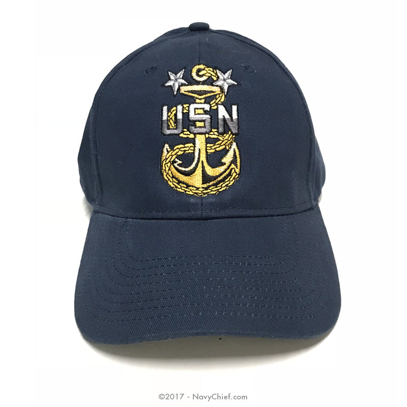 Embroidered MCPO Anchor Hat, Navy