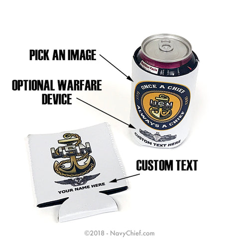 Build Your Own Koozie - NavyChief.com - Navy Pride, Chief Pride.