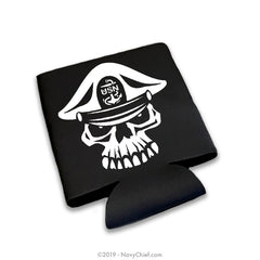 """Brothers & Sisters"" Skull 12 oz Can Koozie, Black - NavyChief.com - Navy Pride, Chief Pride."