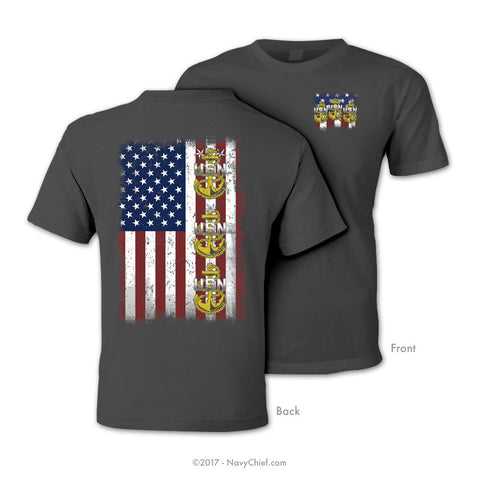 """Chief Flag"" T-Shirt, Charcoal"
