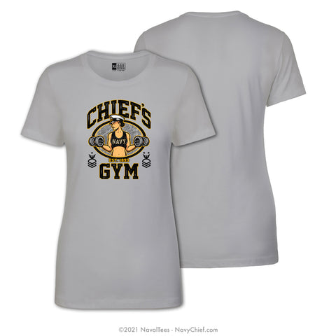 """Chiefs Gym"" Ladies Tee - Silver"