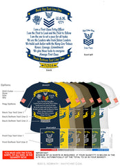 "Semi-Custom Bulk Order Template 008 ""FCPOA"" Screen Printed T-shirts - NavyChief.com - Navy Pride, Chief Pride."