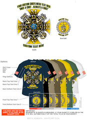 "Semi-Custom Bulk Order Template 014 ""CPO Anchors Iron Cross"" Screen Printed T-shirts - NavyChief.com - Navy Pride, Chief Pride."