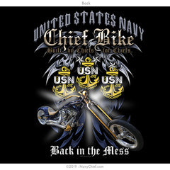 """Chief Bike"" Fundraising T-Shirt, Black - NavyChief.com - Navy Pride, Chief Pride."