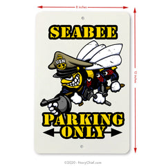 """Seabee"" Aluminum Parking Sign - NavyChief.com - Navy Pride, Chief Pride."