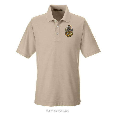 Embroidered Anchor - Men's DRYTEC20™ Performance Polo - NavyChief.com - Navy Pride, Chief Pride.