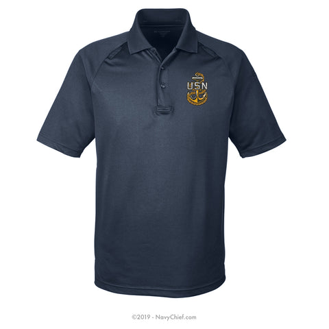 Embroidered Anchor - Tactical Performance Polo - NavyChief.com - Navy Pride, Chief Pride.