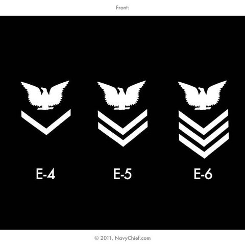 "U.S. Navy ""Enlisted Chevrons"" E-4, E-5, E-6, Long Sleeve Tee"