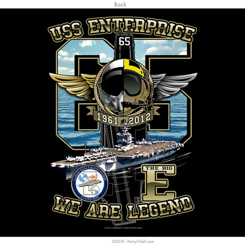 Enterprise Decom T-shirt, Black - NavyChief.com - Navy Pride, Chief Pride.