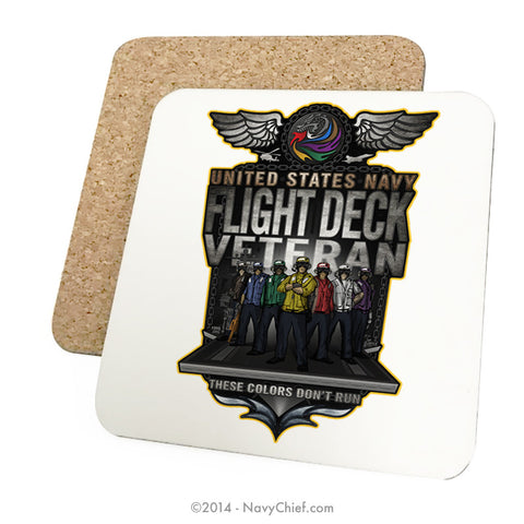 """Flight Deck"" Drink Coasters - NavyChief.com - Navy Pride, Chief Pride."