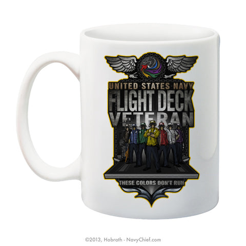 """Flight Deck"" 15 oz Coffee Mug - NavyChief.com - Navy Pride, Chief Pride."