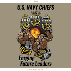 Forging Future Leaders Long Sleeve, Khaki - NavyChief.com - Navy Pride, Chief Pride.