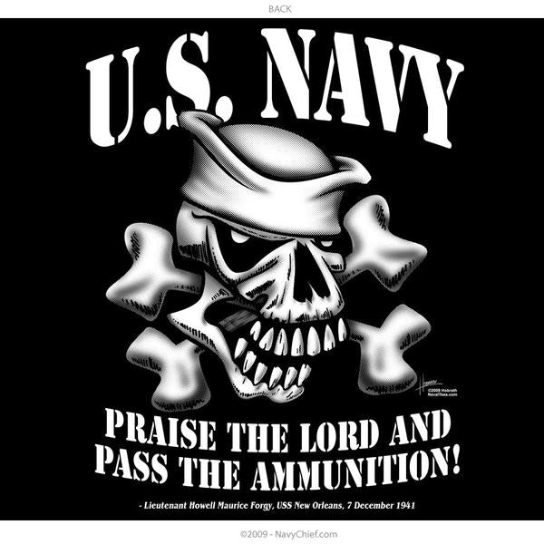 """Pass The Ammo"" Zippered Hooded Sweatshirt, Black - NavyChief.com - Navy Pride, Chief Pride."