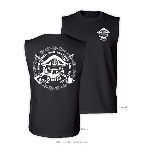 """Brothers & Sisters"" Sleeveless Tee, Black - NavyChief.com - Navy Pride, Chief Pride."