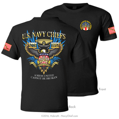 "Navy Chiefs ""A Mess United Cannot Be Broken"" T-shirt, Black - NavyChief.com - Navy Pride, Chief Pride."