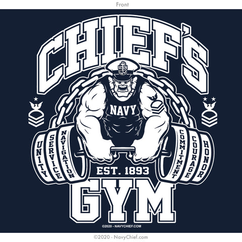 """Chief's Gym"" T-shirt, Navy"