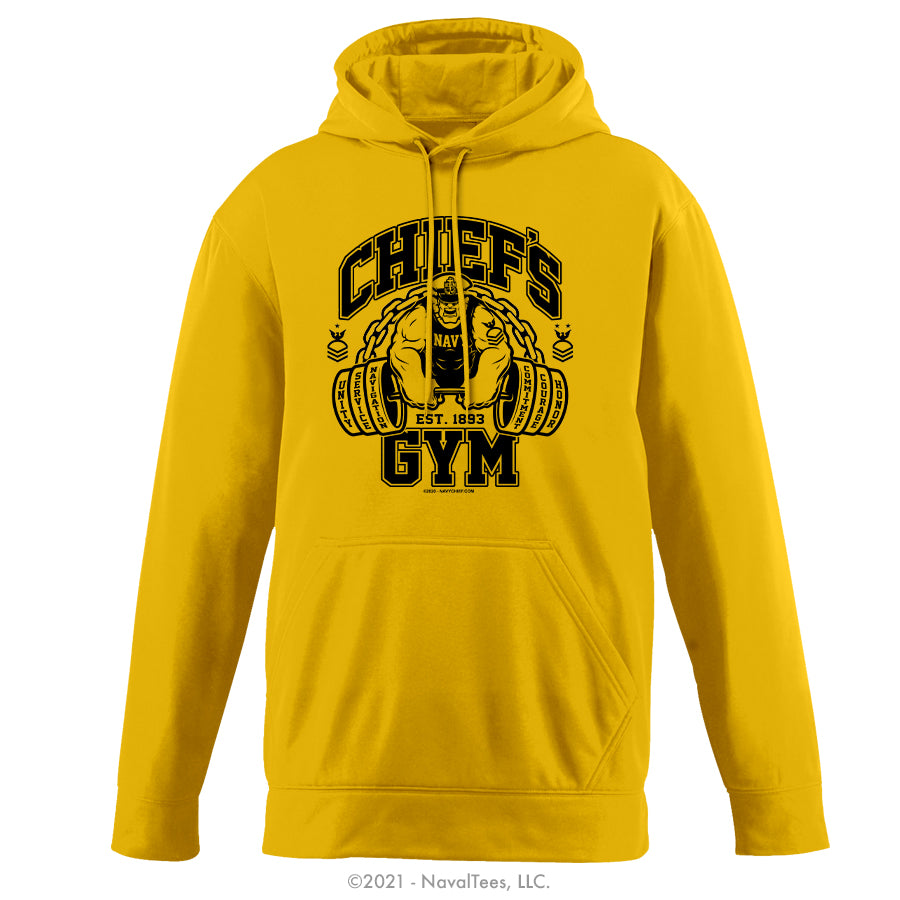 """Chief's Gym"" Moisture Wicking Hoodie - Gold"