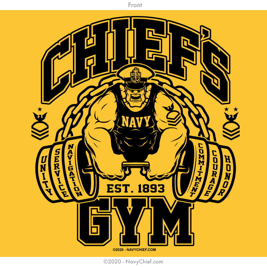 """Chief's Gym"" Tank, Gold"