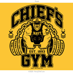 """Chief's Gym"" Tank - Gold"