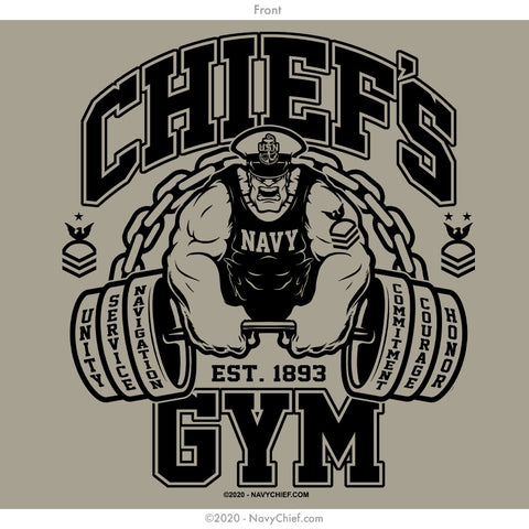 """Chief's Gym"" Hooded Sweatshirt, Khaki"