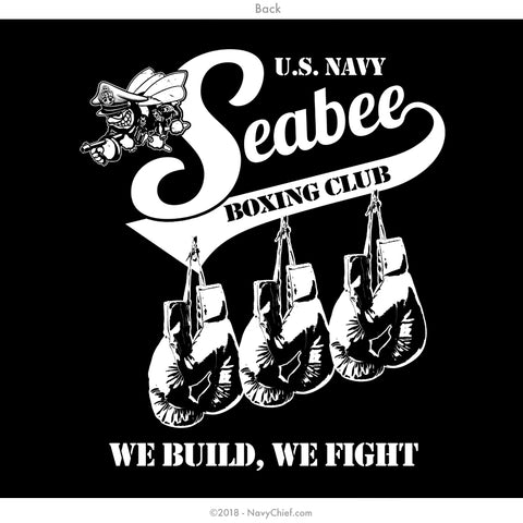 "Seabee ""BOXING CLUB"" - Sleeveless Tee - NavyChief.com - Navy Pride, Chief Pride."