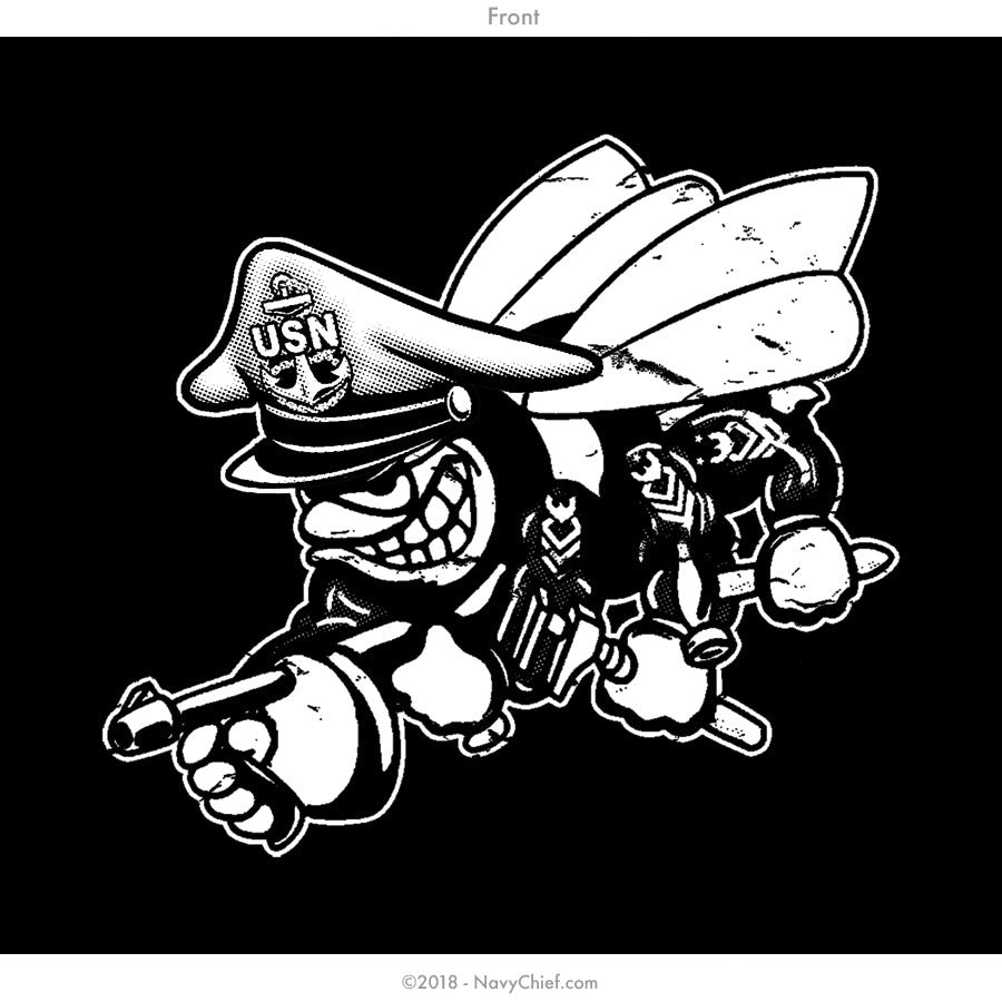 "Seabees ""BOXING CLUB"" T-shirt, BLACK - NavyChief.com - Navy Pride, Chief Pride."