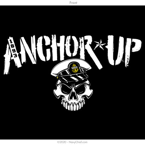 """Anchor Up"" Skull T-shirt, Black"