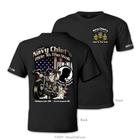"11th Annual ""Chief Ride To The Wall"" T-Shirt, Black - NavyChief.com - Navy Pride, Chief Pride."