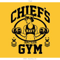 "Chick ""Chief's Gym"" Moisture Wicking Hoodie - Gold"