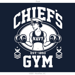 "Chick ""Chief's Gym"" Moisture Wicking Hoodie - Navy"