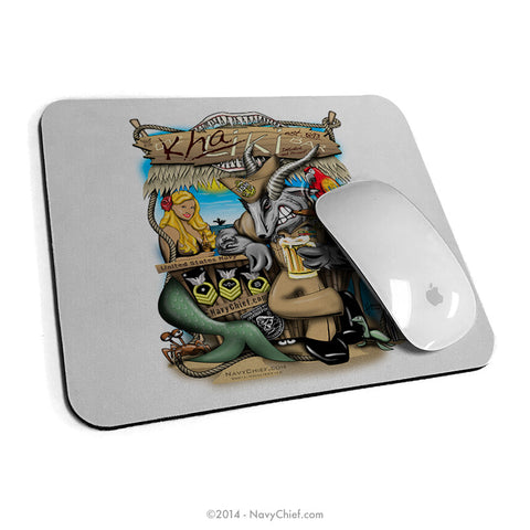 """Khaki Bar"" Mouse Pad - NavyChief.com - Navy Pride, Chief Pride."