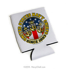 "US Navy Chiefs ""Since 1893"" - 12 oz Can Koozie - NavyChief.com - Navy Pride, Chief Pride."