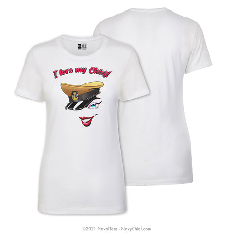 """Love My Chief"" Ladies Tee, White"