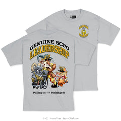"""Genuine SCPO Leadership"" Tee - Grey"