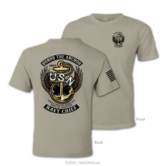 """Honor The Anchor"" Tee - Khaki"