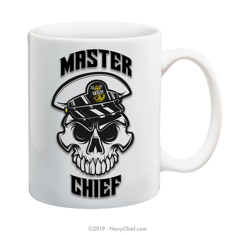 """Anchor Up"" MCPO Skull - 15 oz Coffee Mug - NavyChief.com - Navy Pride, Chief Pride."