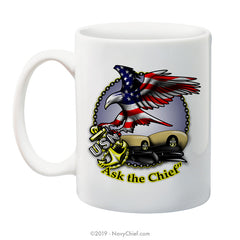 """Ask the Chief"" - 15 oz Coffee Mug - NavyChief.com - Navy Pride, Chief Pride."