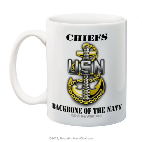 """Chiefs - Backbone of the Navy"" 15 oz Coffee Mug"