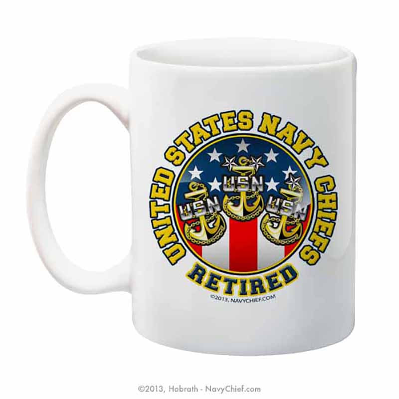 """United States Navy Chiefs - Retired"" 15 oz Coffee Mug - NavyChief.com - Navy Pride, Chief Pride."