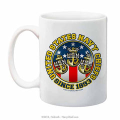 """United States Navy Chiefs - Since 1893"" 15 oz Coffee Mug - NavyChief.com - Navy Pride, Chief Pride."