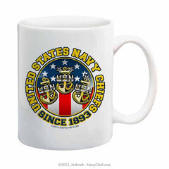 """United States Navy Chiefs - Since 1893"" 15 oz Coffee Mug"