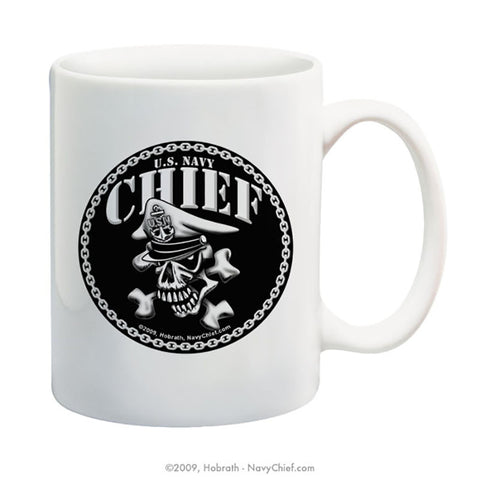 """Chief Skull and Crossbones"" 15 oz Coffee Mug"