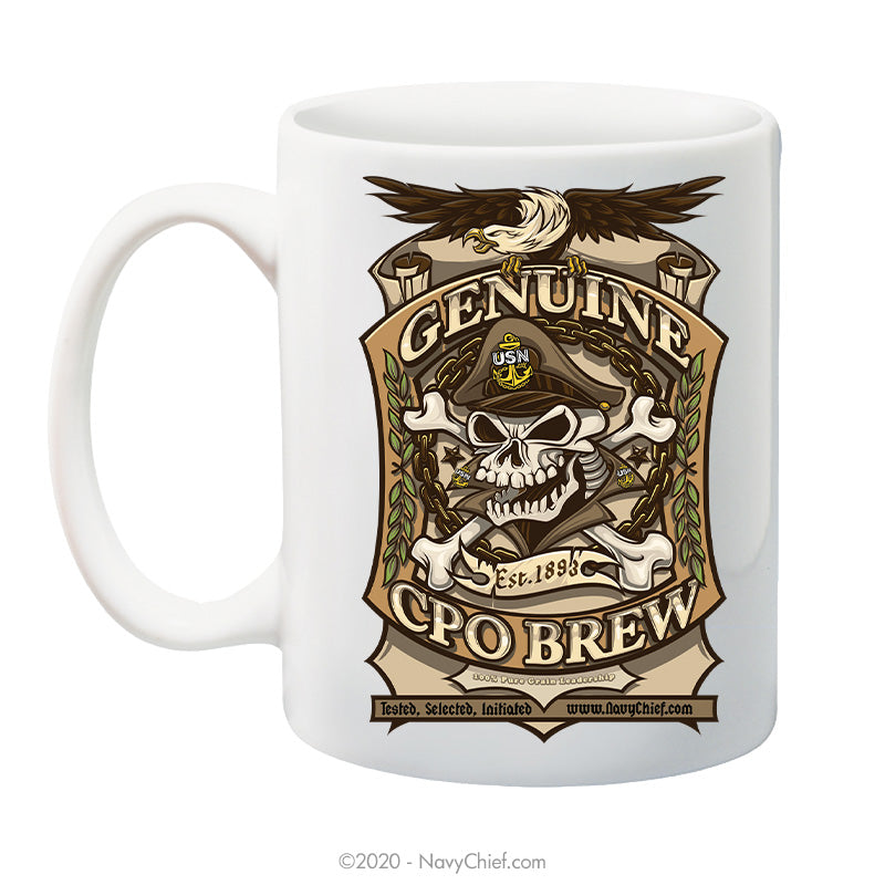 """CPO Brew"" - 15 oz Coffee Mug - NavyChief.com - Navy Pride, Chief Pride."