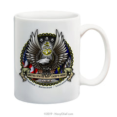 """CPO Eagle"" - 15 oz Coffee Mug - NavyChief.com - Navy Pride, Chief Pride."