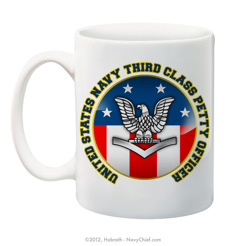 """United States Navy Third Class Petty Officer"" 15 oz Coffee Mug - NavyChief.com - Navy Pride, Chief Pride."