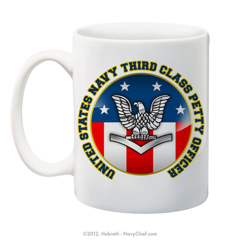 """United States Navy Third Class Petty Officer"" 15 oz Coffee Mug"